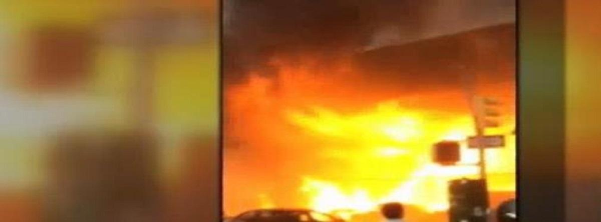 Fuego en el metro de Nueva York