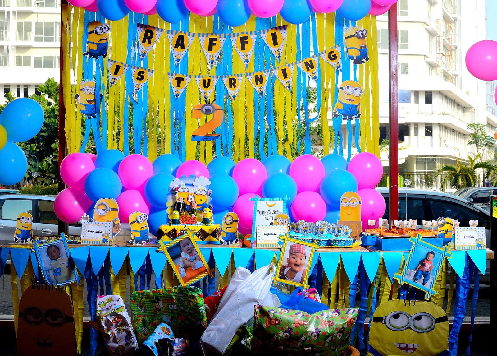 Cerita Cha Ultah Raffi Ke 2 Diy Minion Birthday Party