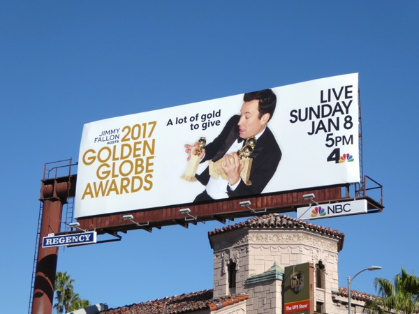 2017 Golden Globe Awards Jimmy Fallon billboard