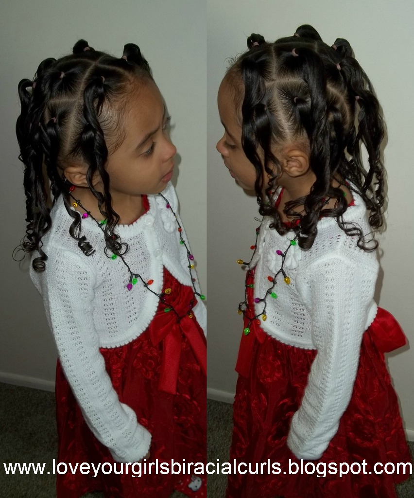 Fantastic Love Your Girls Biracial Curls Christmas Eve Hairstyle Short Hairstyles For Black Women Fulllsitofus