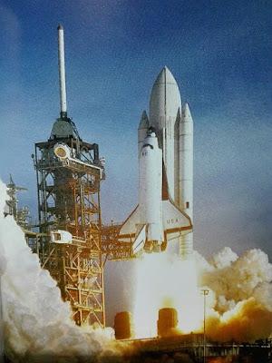 Lanzadera espacial con el transbordador Columbia