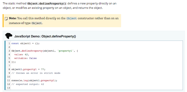 Object.defineProperty