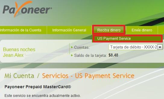 tarjeta de debito Payoneer mastercard