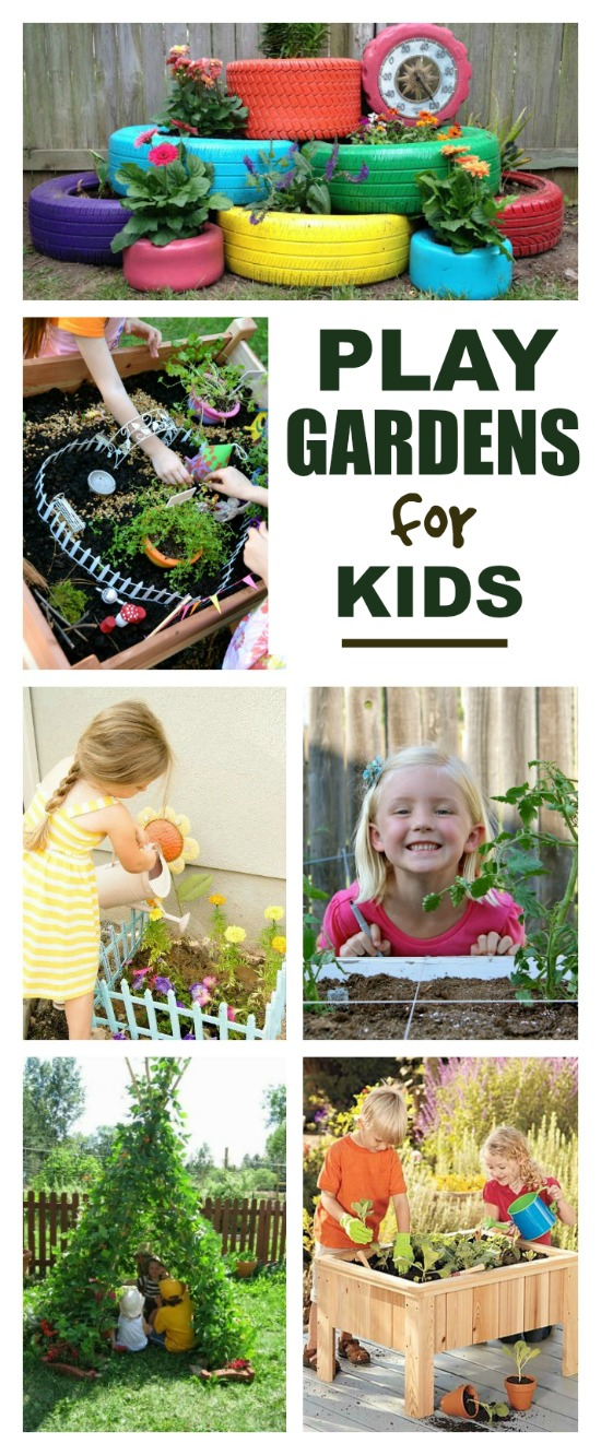 Over 40 super awesome play garden ideas for kids- these are SO FUN!