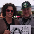 Laurel Hawkswell - Edmonton Artist: Caricatures at Meals on Wheels event for Crackmasters Edmonton West end