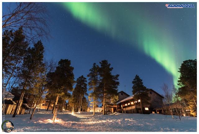 Korpikartano aurora boreale