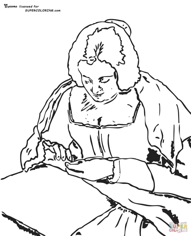 Arte para niños: Dibujos de Velazquez para pintar y colorear