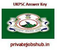 UKPSC Answer Key