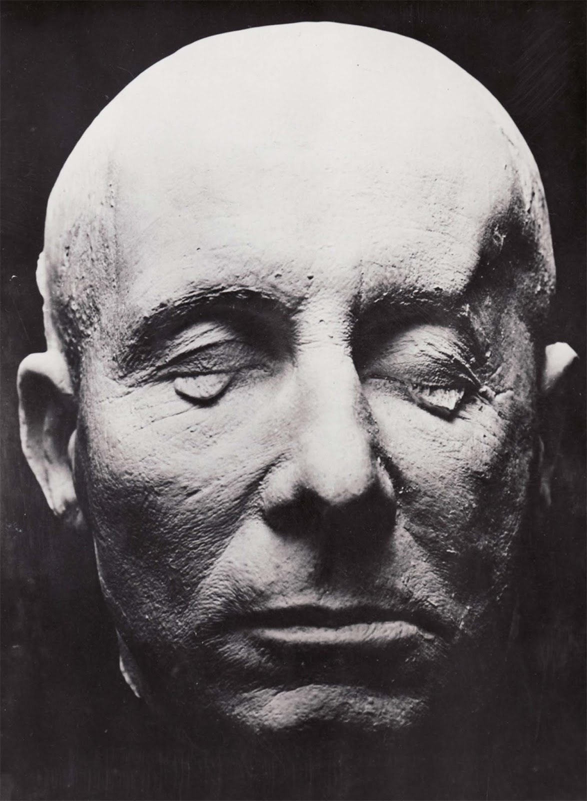 Death mask of Field Marshal Erwin Rommel, discovered by U.S. Seventh Army troops in 1945.