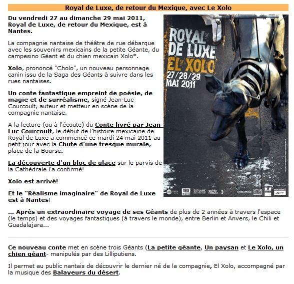 Matin Lumineux Royal De Luxe De Retour à Nantes