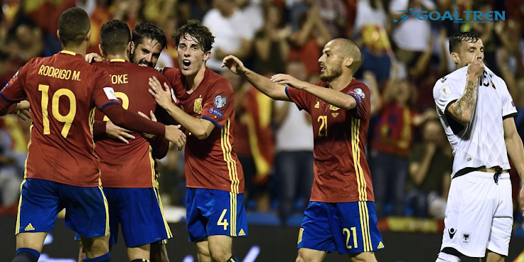 Conquered Albania, Spain Ensure One Place in Russia World Cup Final