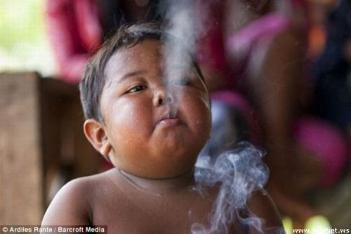 Do you remember the indonesian boy who smokes 40 cigarettes a day