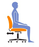 adjust office chair seat depth properly