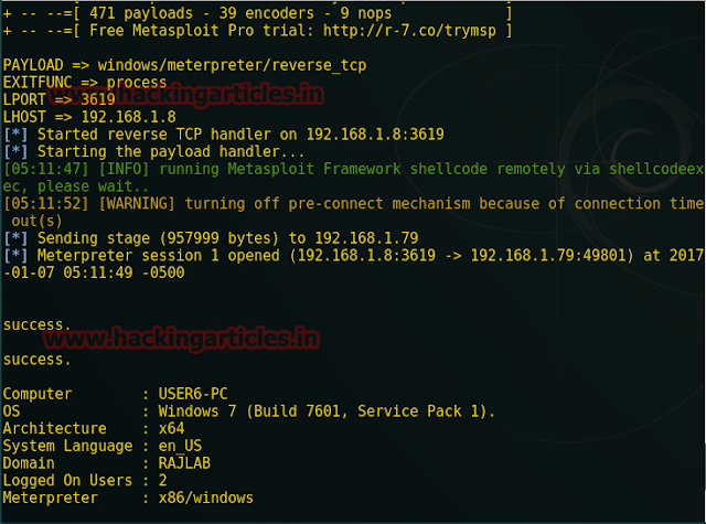 Exploiting the Webserver using Sqlmap and Metasploit (OS-Pwn)