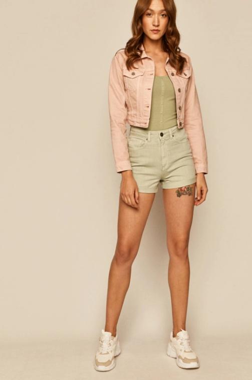 Medicine - Geaca jeans dama roz pastelat scurta pentru vara