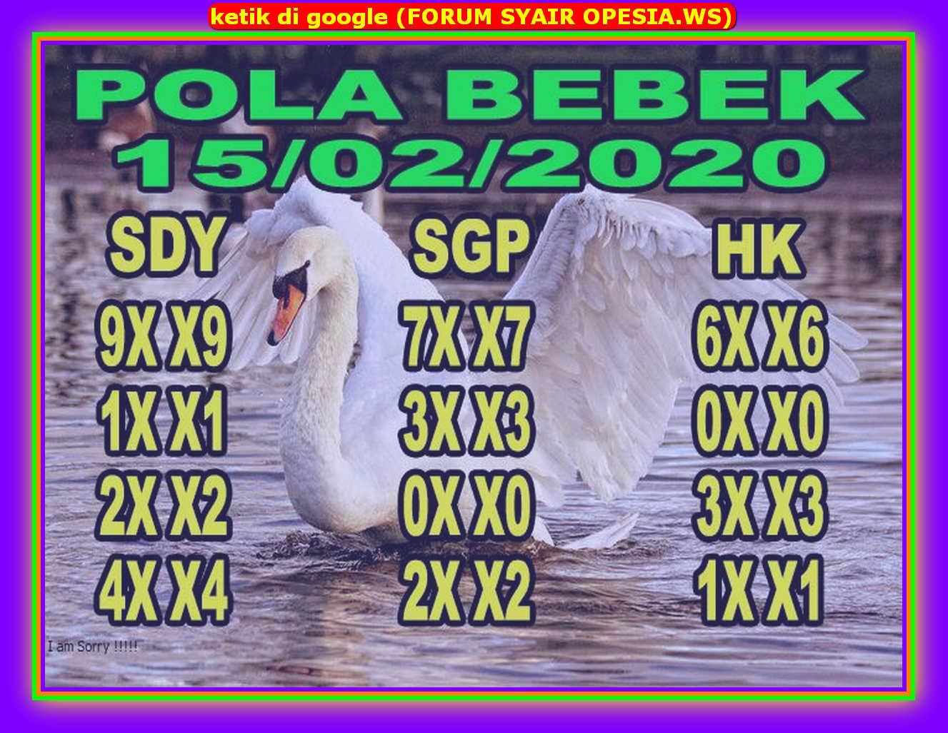 Kode syair Singapore Sabtu 15 Februari 2020 49