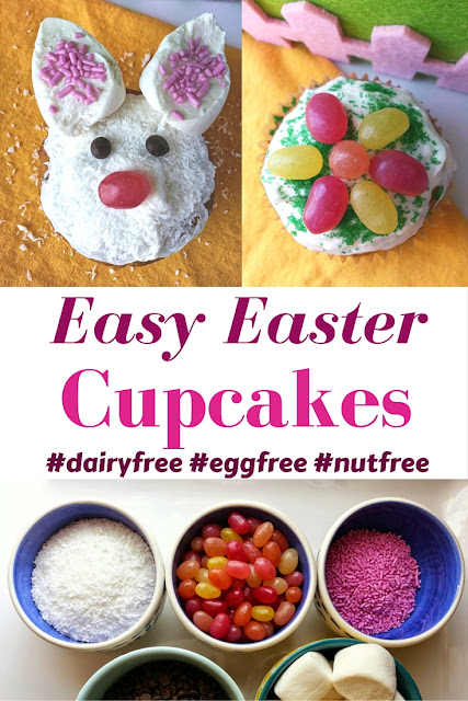 Easy Easter Egg Cupcakes that are dairyfree, eggfree and nutfree