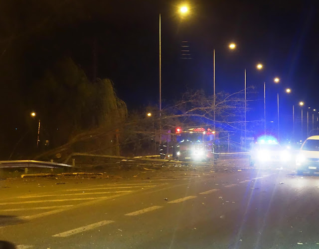 Γιάννενα: Κολώνα Φωτισμού Έπεσε Στην Περιφερειακή Από Θαύμα Γλίτωσε Οδηγός [Φωτό -Βίντεο]