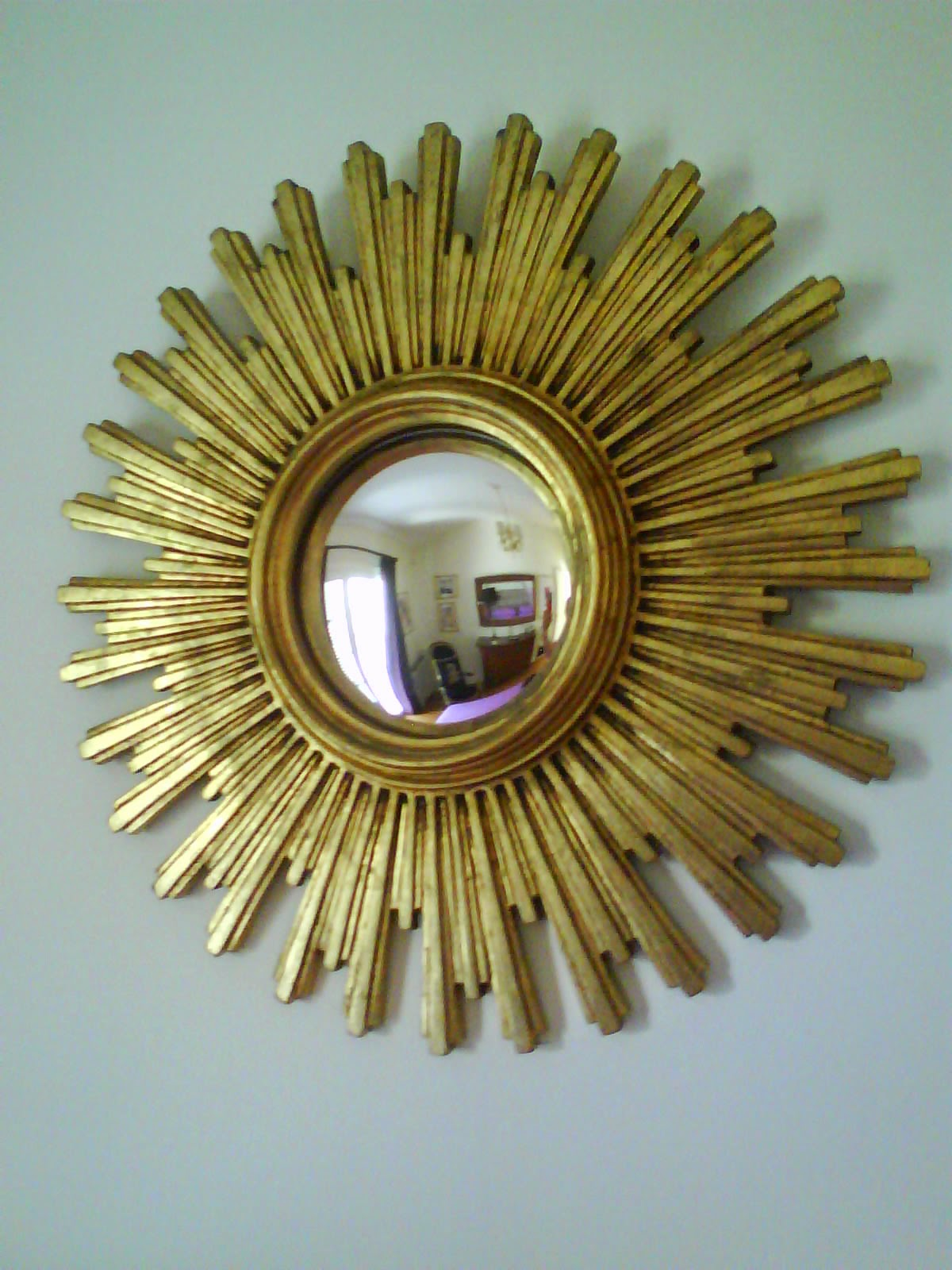 Sunburst french mirror