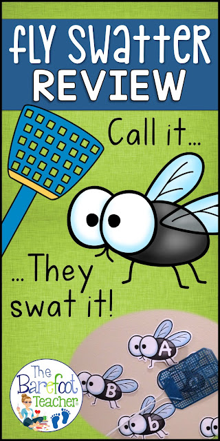 Looking for Back to School activities? This Fly Swatter Game is a fun and fast paced way to practice letter ID, sounds, numbers, color words, and high frequency words! Over 450 flies to print and use. This is a game that will grow with students as they learn. You can use it all year long.