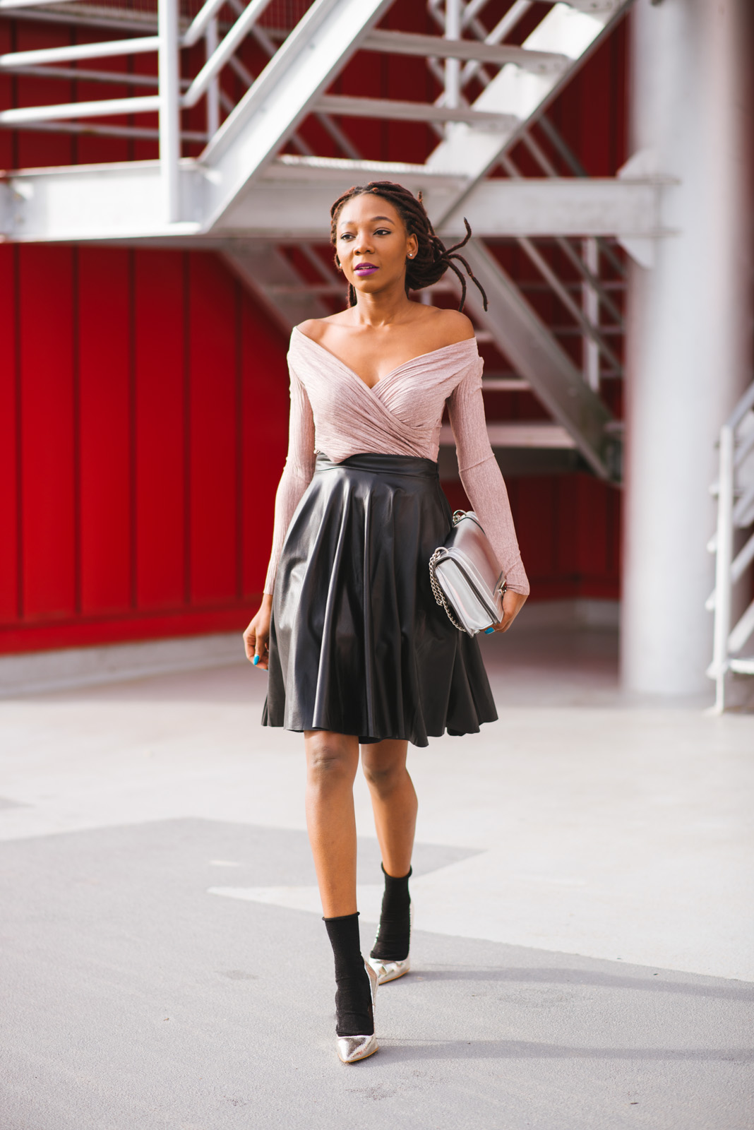 Leather outfits, pastels, skirts