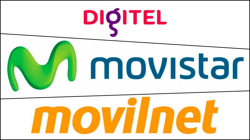 Digitel, Movistar y Movilnet