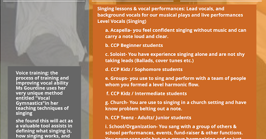 Vocal Training and Competition Chorus ~ Carlena Gourdine's Learning Institute 4 the Urban Arts™