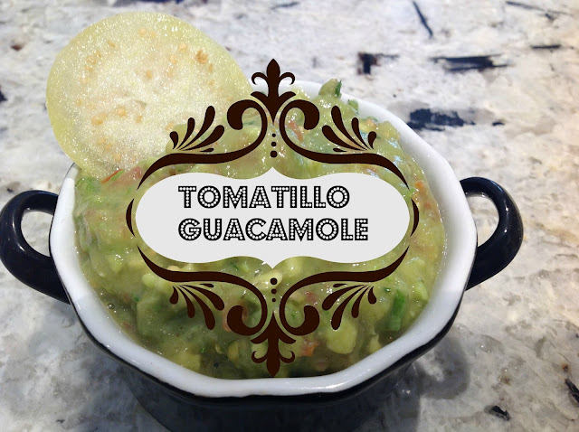 tomatillo guacamole appetizer