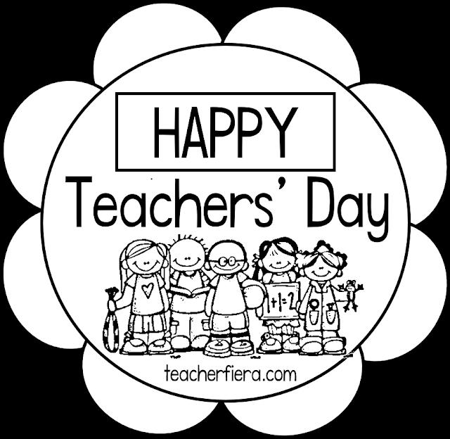 TEACHER FIERAS ASSEMBLAGE HAPPY TEACHERS DAY COLOURING