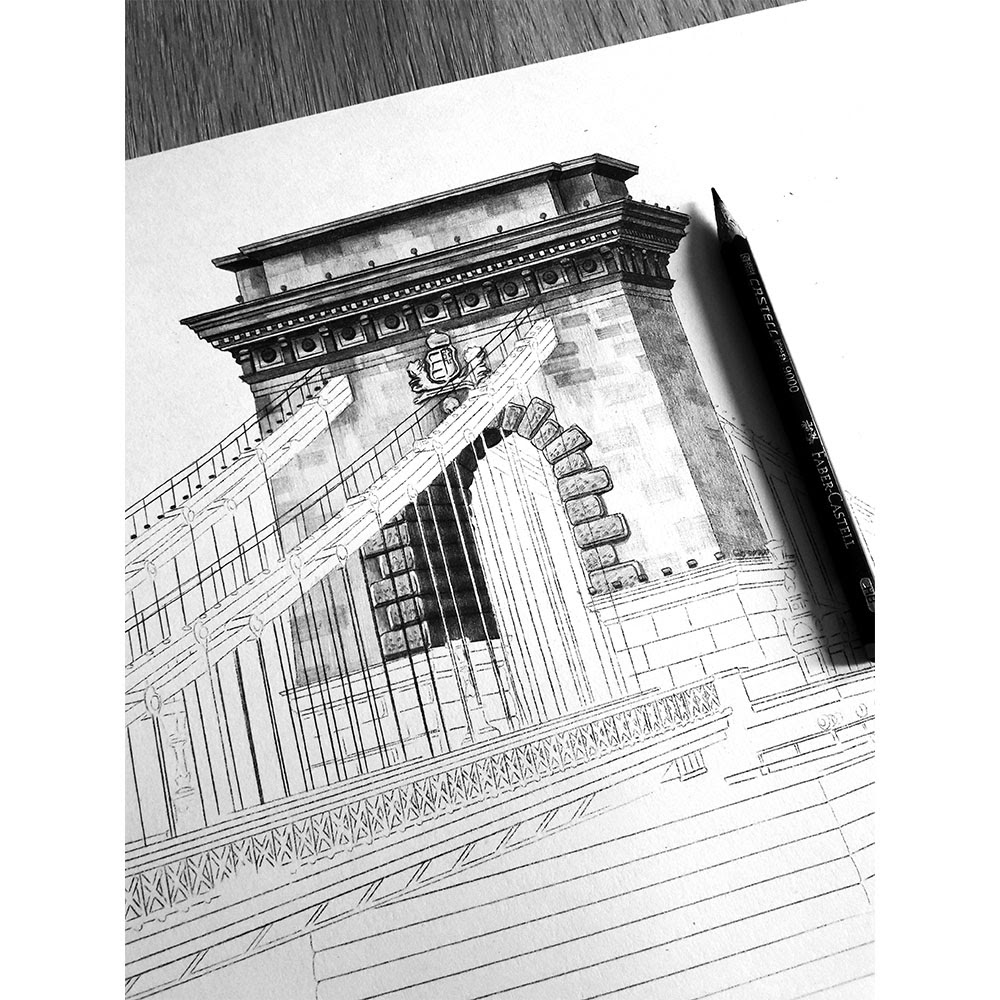 16-Chain-Bridge-Budapest-Hungary-WIP-Elizabeth-Mishanina-Architecture-Immaculate-Drawing-Technique-www-designstack-co