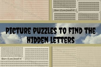 Picture puzzles to find the hidden letters
