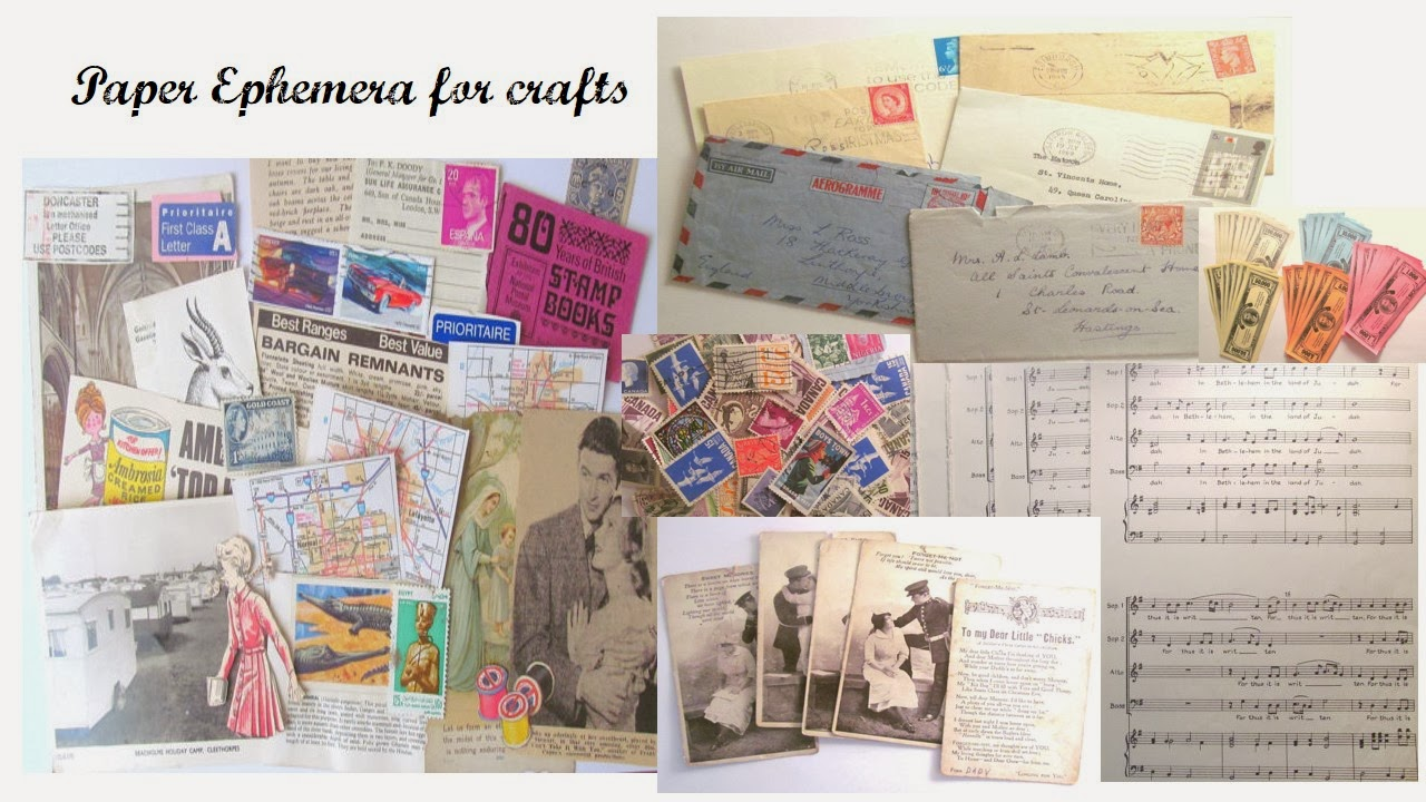 Paper ephemera for crafting by Pink Flamingo Ephemera