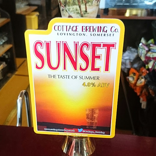 Somerset Craft Beer Review: Sunset from Cottage Brewing Co.