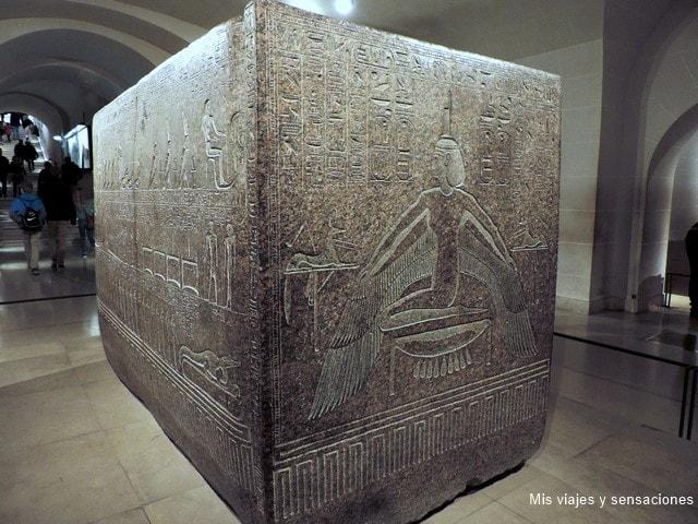 Sarcófago de Ramsès III, colección Egipto, Museo del Louvre, París