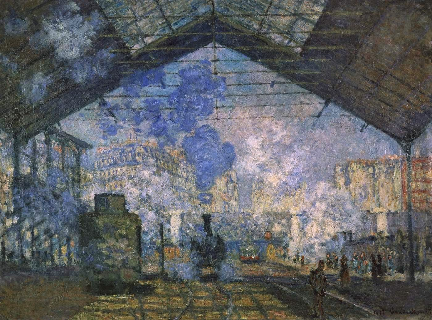 Art artists claude monet part 9 1877 1878 for Piscine orsay