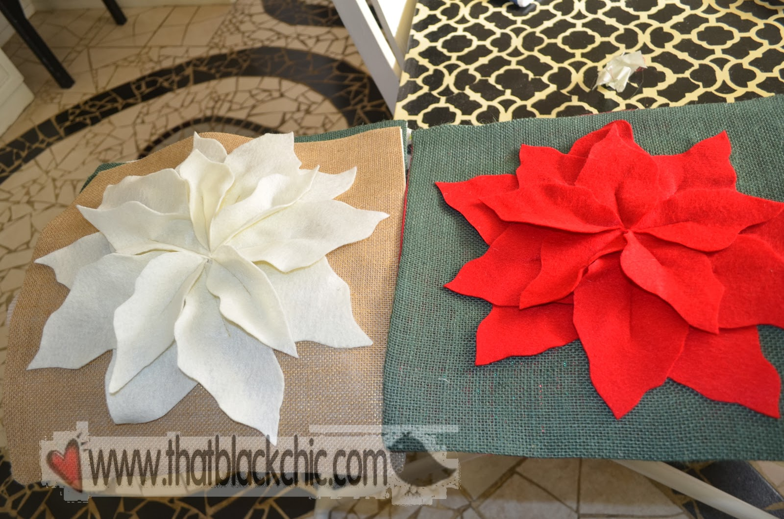 Diy Hi Jack Poinsettia Pillow By Pottery Barn That