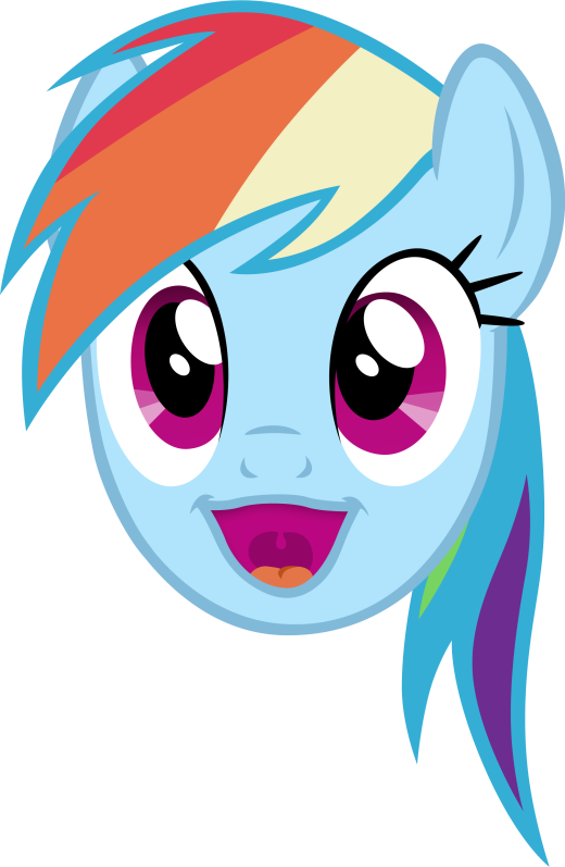 Rainbow Dash Happy Face