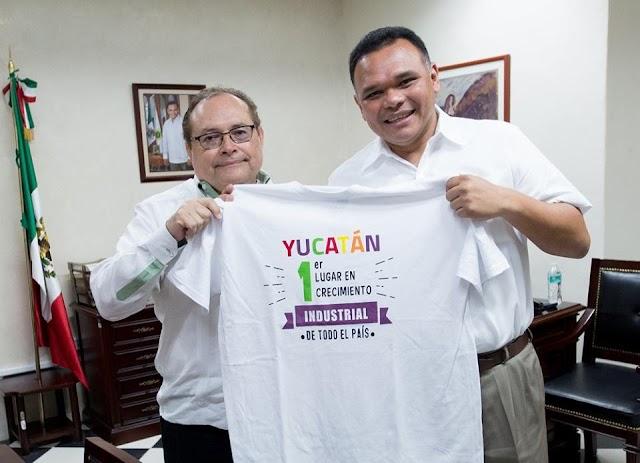 Yucatán, entre los primeros lugares en crecimiento industrial del país