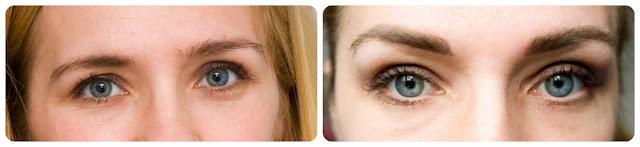 makijaż pernamentny brwi efekt przed i po zabiegu porówanie