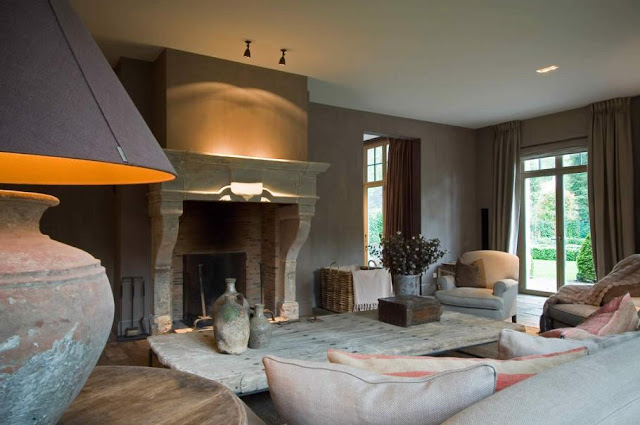 Belgian Interior Design: Modern Country Style: Belgian Style Interiors: Living Rooms