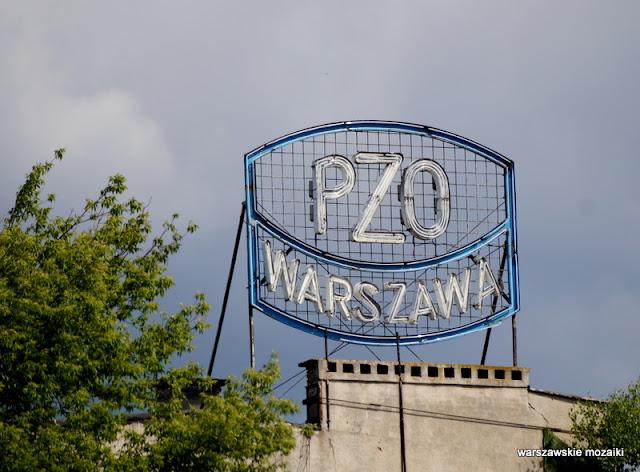Warszawa Warsaw neony warszawskie światła PZO Grochów
