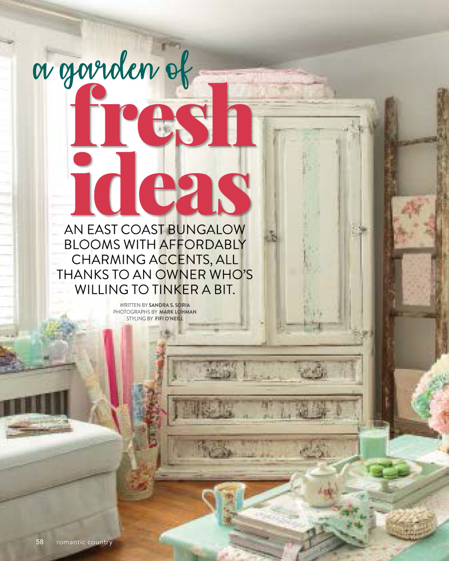 tinkered treasures: romantic country - spring 2018 #204