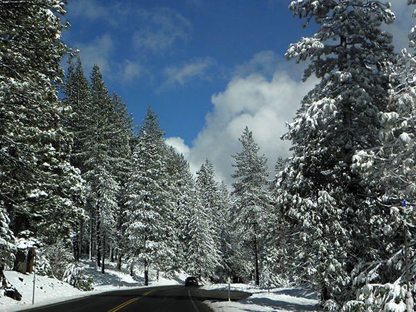 Driving in to South Lake Tahoe from Sacramento
