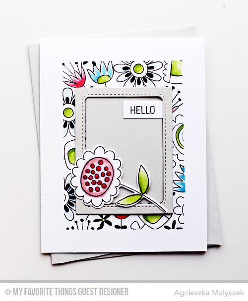 Handmade card from Agnieszka Malyszek featuring products from My Favorite Things #mftstamps