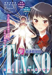 """TiN-So: Kimi ga Te ni Suru Ore no Ex Machina"""" el nuevo manga de Asaura y Rarusan"""