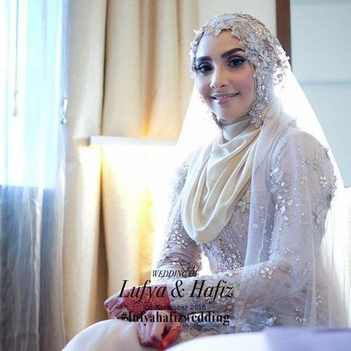 gambar Lufya Omar & Dr Hafiz nikah, gambar pernikahan Lufya Akademi Fantasia, gambar kahwin Lufya AF6, perkahwinan Lufya Omar & Dr Hafiz, suami Lufya Omar Che Muhammad Hafiz Che Baharum, lufya af6