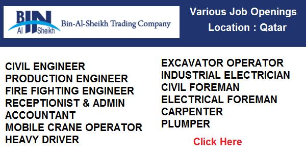 Bin Al-Sheikh Trading Company Job Openings | Qatar