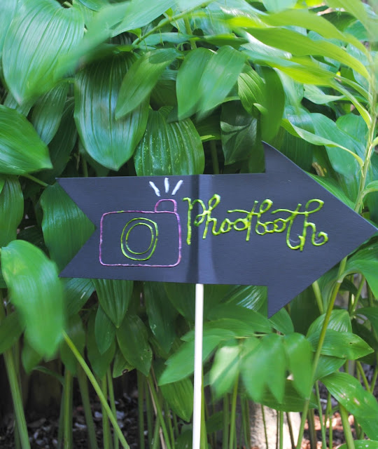 Don't let your wedding guests get lost. Make signs using Deco Foil