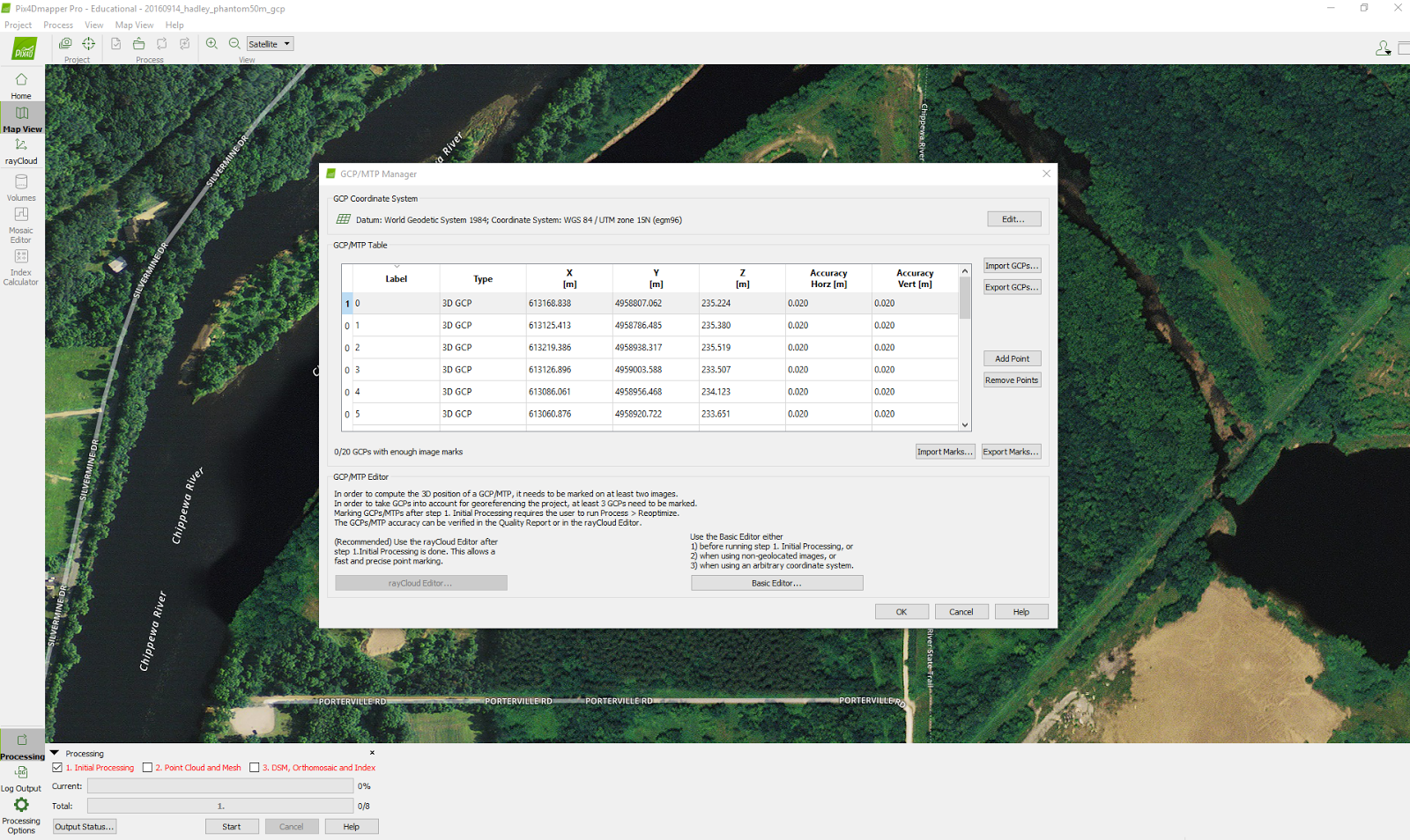 Unmanned Aerial Systems- Geography 390: Processing Pix4D imagery
