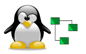 Pinguim Tux com a logo do brModelo